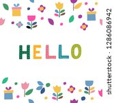 word hello for greetings. text  ...   Shutterstock .eps vector #1286086942