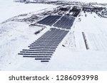 solar power plant  winter view | Shutterstock . vector #1286093998