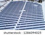 solar power plant  winter view | Shutterstock . vector #1286094025