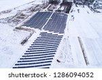 solar power plant  winter view | Shutterstock . vector #1286094052