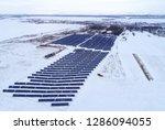 solar power plant  winter view | Shutterstock . vector #1286094055