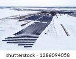 solar power plant  winter view | Shutterstock . vector #1286094058