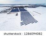 solar power plant  winter view | Shutterstock . vector #1286094082