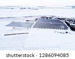 solar power plant  winter view | Shutterstock . vector #1286094085