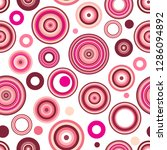 seamless pattern of concentric... | Shutterstock .eps vector #1286094892