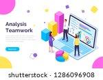 analysis teamwork  people... | Shutterstock .eps vector #1286096908
