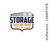 emblem storage  warehouse logo... | Shutterstock .eps vector #1286097478