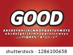 modern  cool typography poster... | Shutterstock .eps vector #1286100658