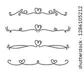 vector vintage line elegant... | Shutterstock .eps vector #1286105212
