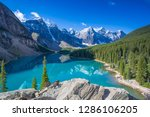 moraine lake in the valley of... | Shutterstock . vector #1286106205
