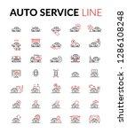 auto service line icon black  ... | Shutterstock .eps vector #1286108248