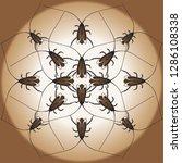 cockroach. vector illustration   Shutterstock .eps vector #1286108338