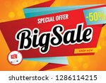 big sale banner red design.up... | Shutterstock .eps vector #1286114215