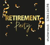 happy retirement party banner... | Shutterstock .eps vector #1286116198
