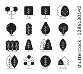 tree and plant icons set | Shutterstock .eps vector #1286130142