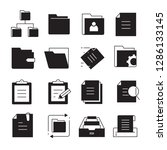 file and folder icons | Shutterstock .eps vector #1286133145