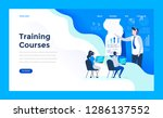web design landing page... | Shutterstock .eps vector #1286137552