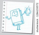 book cartoon character holding...   Shutterstock .eps vector #1286153572