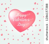 happy valentine's day card with ... | Shutterstock .eps vector #1286157388