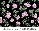 dog rose seamless pattern.... | Shutterstock .eps vector #1286159095
