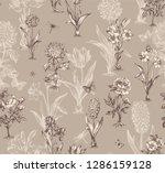 botanical victorian seamless... | Shutterstock .eps vector #1286159128