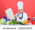 girl read book best culinary...   Shutterstock . vector #1286162965