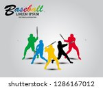 visual drawing baseball sport...   Shutterstock .eps vector #1286167012