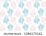 palm leaf pattern  ready for... | Shutterstock .eps vector #1286173162