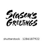 seasons greetings calligraphy... | Shutterstock .eps vector #1286187922