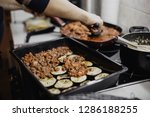 woman preparing greek dish... | Shutterstock . vector #1286188255