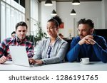 multi ethnic colleagues in a... | Shutterstock . vector #1286191765