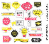 stickers with quick tips... | Shutterstock .eps vector #1286195158
