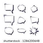 set of speech bubbles comic pop ... | Shutterstock .eps vector #1286200648