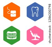 set of 4 dentist icons set.... | Shutterstock .eps vector #1286200798