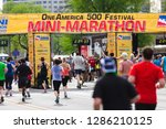 Small photo of Indianapolis, IN / United States - May 5th, 2018: Indy 500 Mini-Marathon