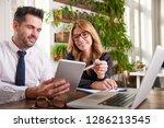 shot of businessman holding...   Shutterstock . vector #1286213545
