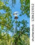 Windmill At Sam Nail Ranch In...