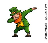 funny cartoon leprechaun doing... | Shutterstock .eps vector #1286215195
