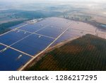 aerial view of solar panels... | Shutterstock . vector #1286217295