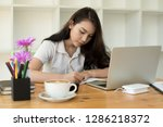 business documents on office...   Shutterstock . vector #1286218372