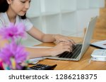 business documents on office...   Shutterstock . vector #1286218375