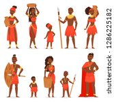 african people vector black man ... | Shutterstock .eps vector #1286225182