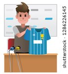 football player transfers vector | Shutterstock .eps vector #1286226145