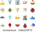 color flat icon set food... | Shutterstock .eps vector #1286233975