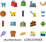 color flat icon set cake flat... | Shutterstock .eps vector #1286234068