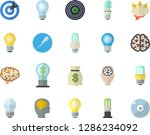 color flat icon set energy... | Shutterstock .eps vector #1286234092