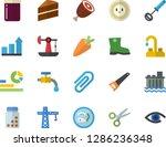 color flat icon set crane flat... | Shutterstock .eps vector #1286236348