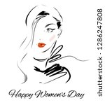 happy women's day greeting card ... | Shutterstock .eps vector #1286247808