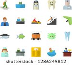 color flat icon set fish flat... | Shutterstock .eps vector #1286249812