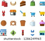 color flat icon set cake flat... | Shutterstock .eps vector #1286249965